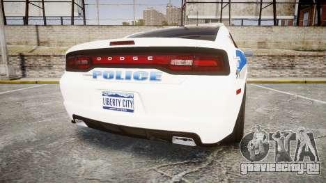 Dodge Charger RT 2013 PS Police [ELS] для GTA 4 вид сзади слева
