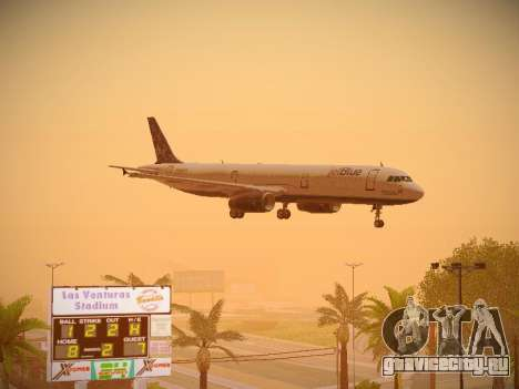 Airbus A321-232 Lets talk about Blue для GTA San Andreas салон