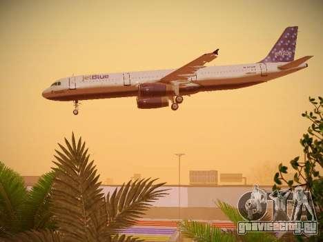 Airbus A321-232 Lets talk about Blue для GTA San Andreas двигатель