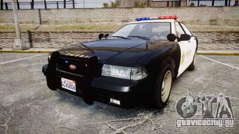 GTA V Vapid Cruiser LSS Black [ELS] для GTA 4