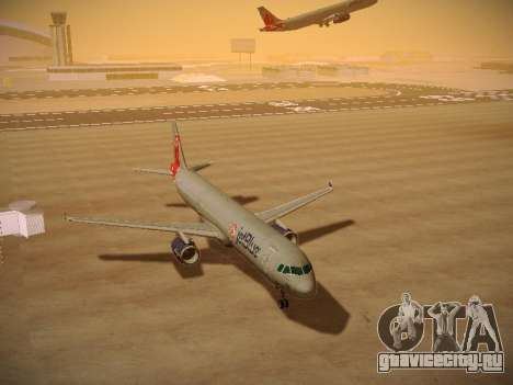 Airbus A321-232 jetBlue Boston Red Sox для GTA San Andreas вид сзади