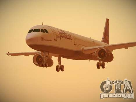 Airbus A321-232 jetBlue Red White and Blue для GTA San Andreas вид слева