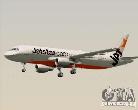 Airbus A320-200 Jetstar Airways для GTA San Andreas вид снизу