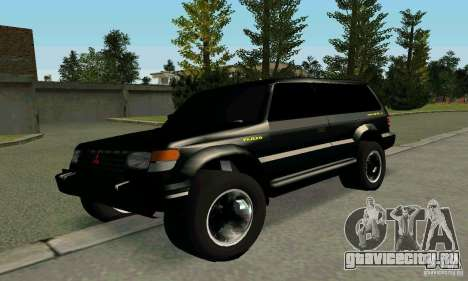 Mitsubishi Pajero Intercooler Turbo 2800 для GTA San Andreas вид слева