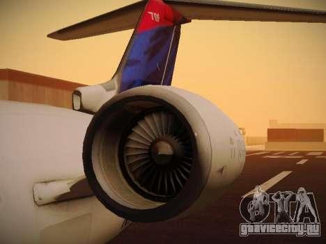 Bombardier CRJ-700 Delta Connection для GTA San Andreas вид сверху