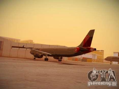 Airbus A321-232 jetBlue Boston Red Sox для GTA San Andreas вид сзади слева