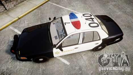 Ford Crown Victoria LASD [ELS] Marked для GTA 4 вид справа