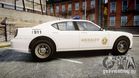 GTA V Bravado Police Buffalo [ELS] для GTA 4 вид слева