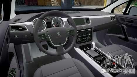 Peugeot 508 Republic of Srpska [ELS] для GTA 4 вид изнутри