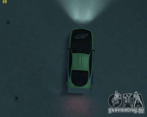 Mitsubishi Eclipse from Fast and Furious для GTA 4 вид изнутри