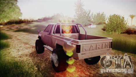 Karin Rebel 4x4 GTA 5 для GTA San Andreas вид слева