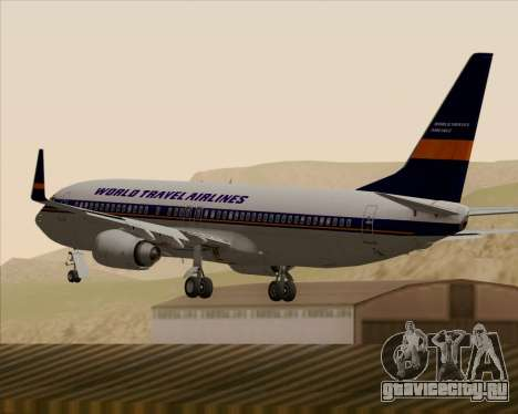Boeing 737-800 World Travel Airlines (WTA) для GTA San Andreas вид снизу