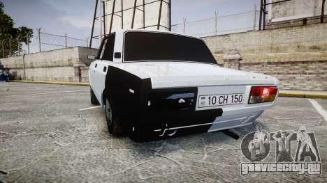 ВАЗ-2107 Avtosh Style для GTA 4 вид сзади слева