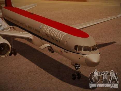 Boeing 757-251 Northwest Airlines для GTA San Andreas вид снизу