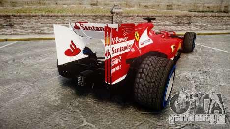 Ferrari F138 v2.0 [RIV] Alonso TFW для GTA 4 вид сзади слева