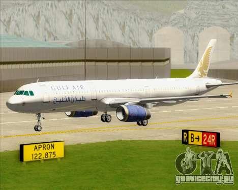 Airbus A321-200 Gulf Air для GTA San Andreas вид снизу