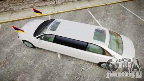 Audi A8 Limousine для GTA 4 вид справа