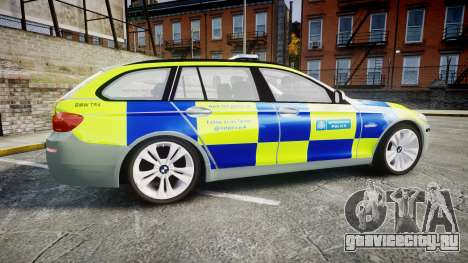 BMW 530d F11 Metropolitan Police [ELS] для GTA 4 вид слева
