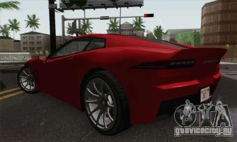 GTA 5 Invetero Coquette для GTA San Andreas вид слева
