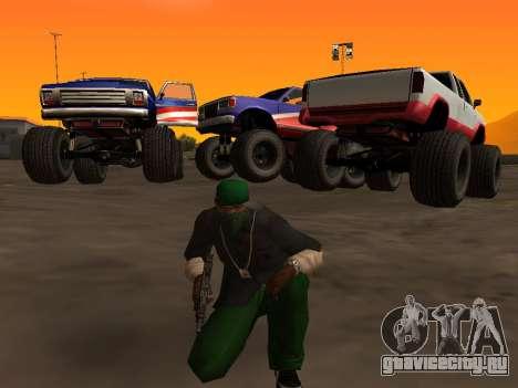 Новые текстуры колёс Monster для GTA San Andreas вид слева