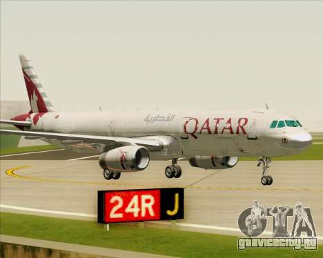 Airbus A321-200 Qatar Airways для GTA San Andreas вид снизу