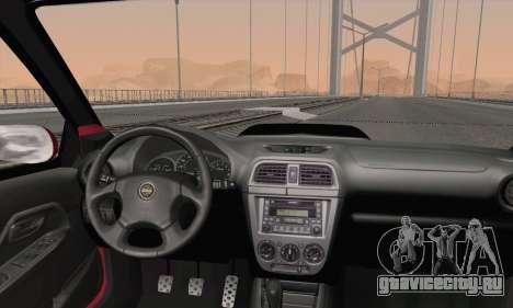 Subaru Impreza Wagon 2002 для GTA San Andreas вид сзади слева