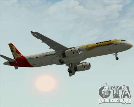 Airbus A321-200 Qantas (Wallabies Livery) для GTA San Andreas вид сбоку