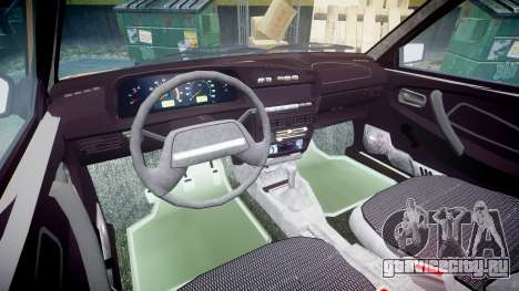 ВАЗ-2109 1500 i для GTA 4 вид изнутри