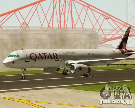 Airbus A321-200 Qatar Airways для GTA San Andreas вид изнутри