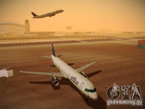 Airbus A321-232 jetBlue Red White and Blue для GTA San Andreas вид сзади