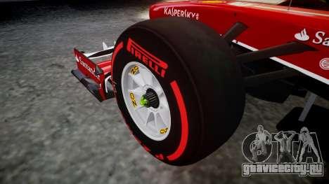 Ferrari F138 v2.0 [RIV] Massa TSSD для GTA 4 вид сзади