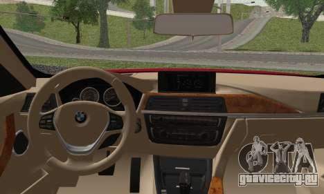 BMW 3 Series F30 2013 для GTA San Andreas вид сзади слева