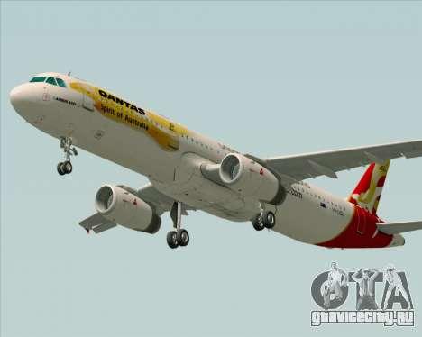 Airbus A321-200 Qantas (Wallabies Livery) для GTA San Andreas вид сзади