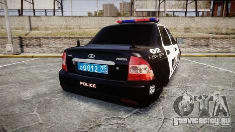ВАЗ-2170 Приора Police для GTA 4 вид сзади слева