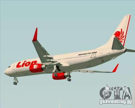 Boeing 737-800 Lion Air для GTA San Andreas вид снизу