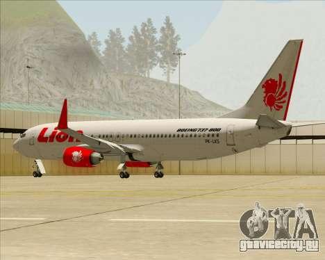 Boeing 737-800 Lion Air для GTA San Andreas колёса