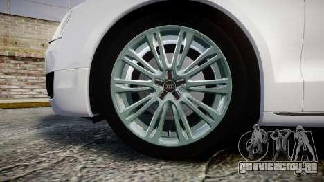 Audi A8 Limousine для GTA 4 вид сзади