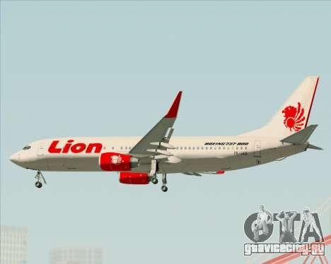 Boeing 737-800 Lion Air для GTA San Andreas двигатель