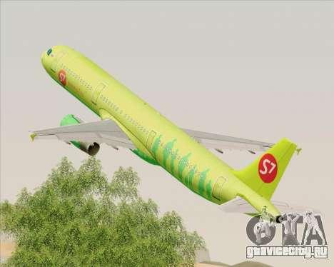 Airbus A321-200 S7 - Siberia Airlines для GTA San Andreas