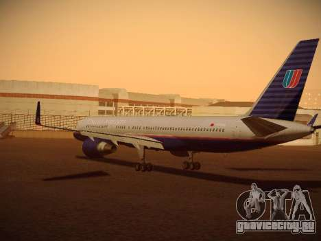 Boeing 757-224 United Airlines для GTA San Andreas вид сзади слева