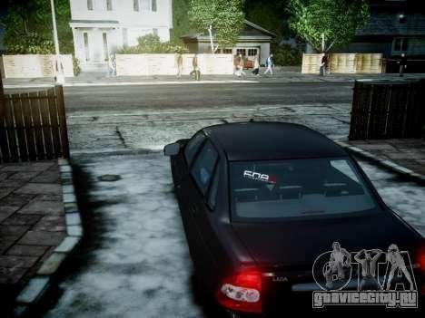 ВАЗ 2170 для GTA 4 вид сзади