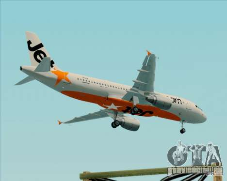 Airbus A320-200 Jetstar Airways для GTA San Andreas вид сбоку