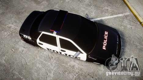 ВАЗ-2170 Приора Police для GTA 4 вид справа