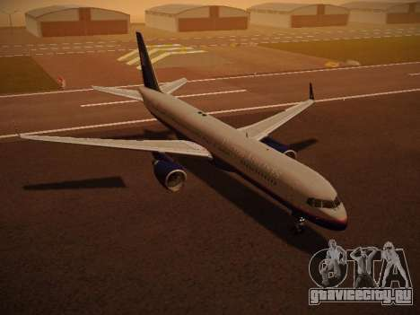 Boeing 757-224 United Airlines для GTA San Andreas салон