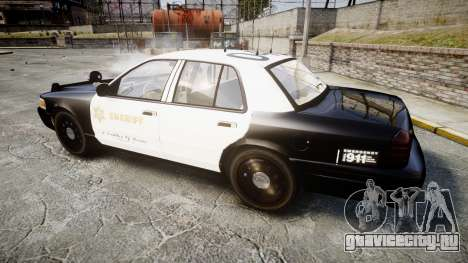 Ford Crown Victoria LASD [ELS] Slicktop для GTA 4 вид слева