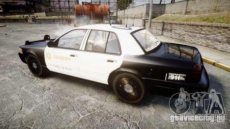 Ford Crown Victoria LASD [ELS] Slicktop для GTA 4 вид слева