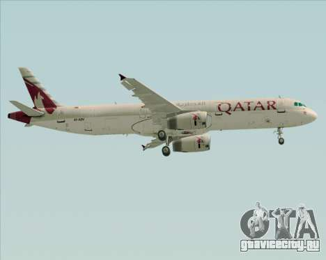Airbus A321-200 Qatar Airways для GTA San Andreas колёса