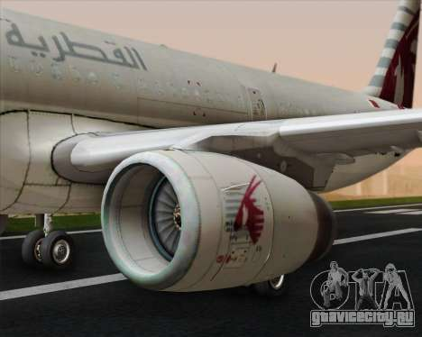 Airbus A321-200 Qatar Airways для GTA San Andreas двигатель