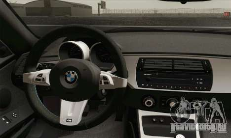 BMW Z4M Coupe 2008 Stock для GTA San Andreas вид сзади слева