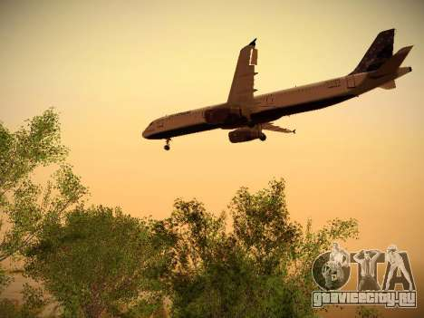 Airbus A321-232 Lets talk about Blue для GTA San Andreas вид сзади